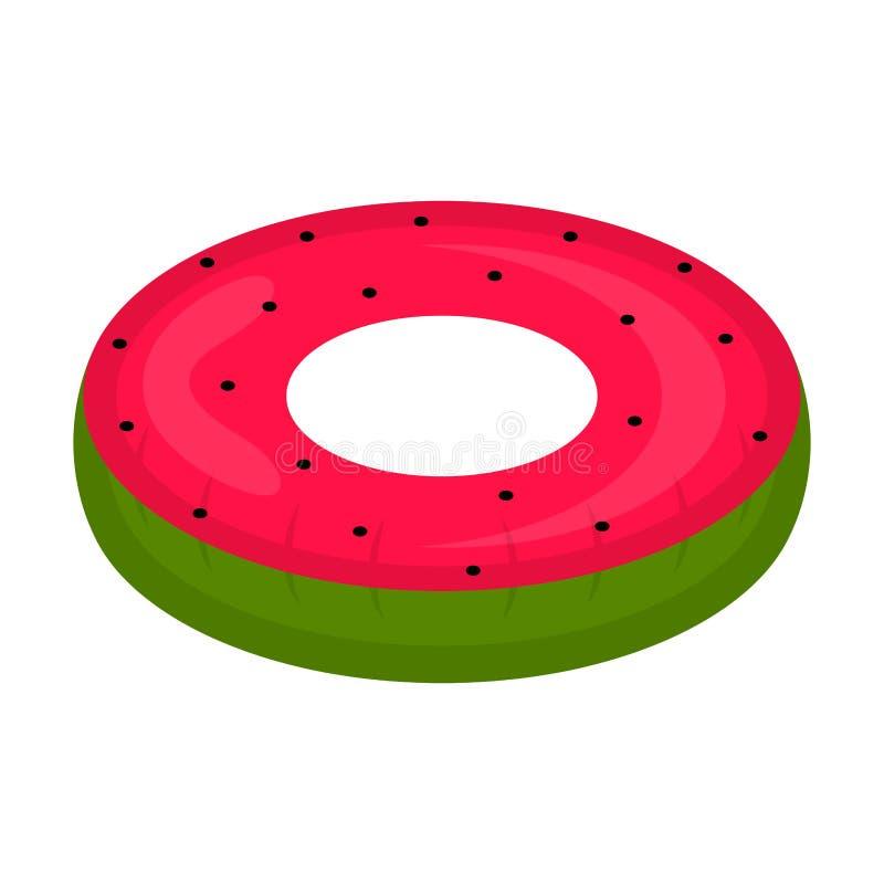 El flotador aislado de la piscina formó imagen de la sandía libre illustration