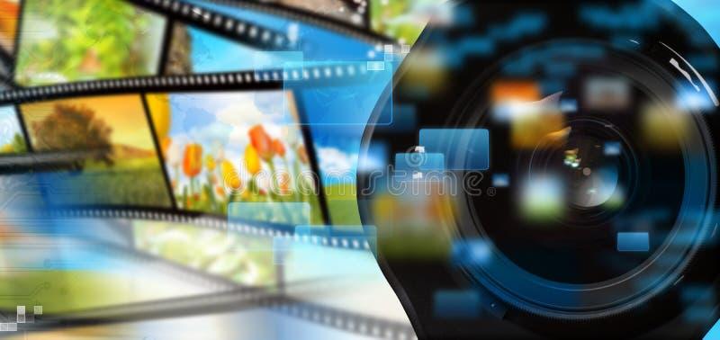 El fluir de los multimedia imagen de archivo libre de regalías