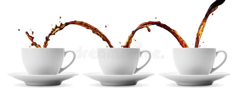 El fluir del café fotografía de archivo