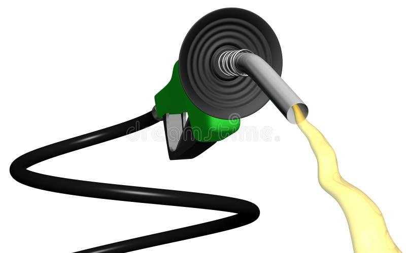 El fluir espiral de la bomba de gas stock de ilustración