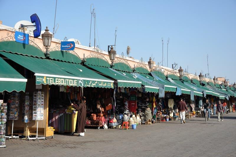 EL Fna de Djemaa en Marrakesh imágenes de archivo libres de regalías