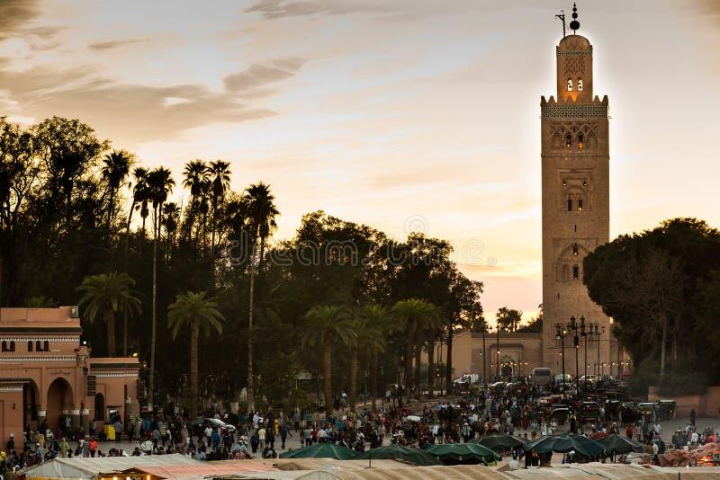 EL Fna de Jamaa en Marrakesh imagen de archivo