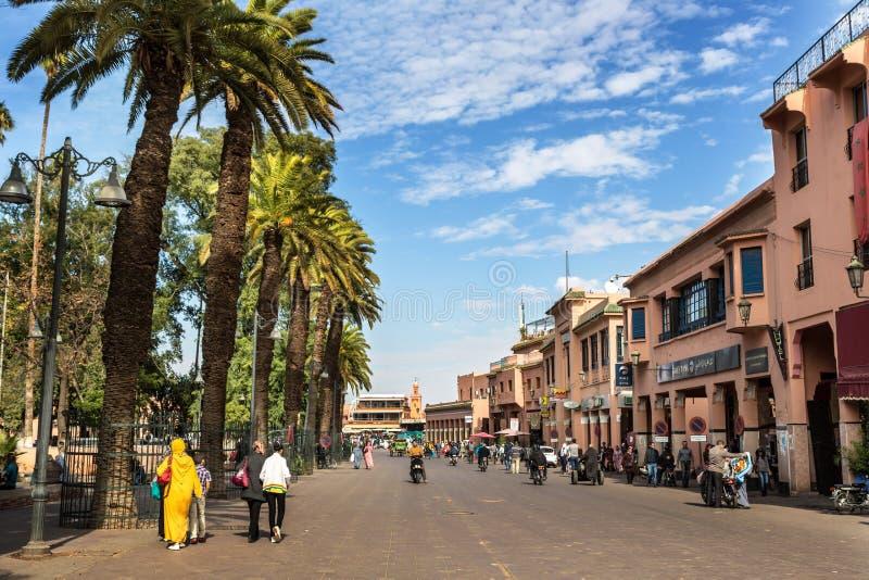 EL Fna en Marrakesh, Maroc de Djema foto de archivo libre de regalías
