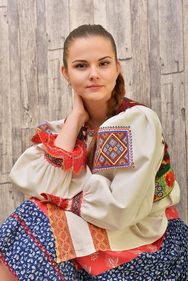 El folclore eslovaco viste tradicional fotografía de archivo