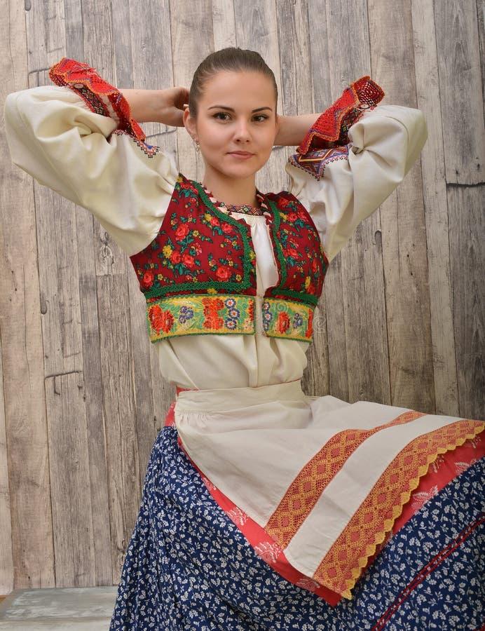 El folclore eslovaco viste tradicional foto de archivo libre de regalías