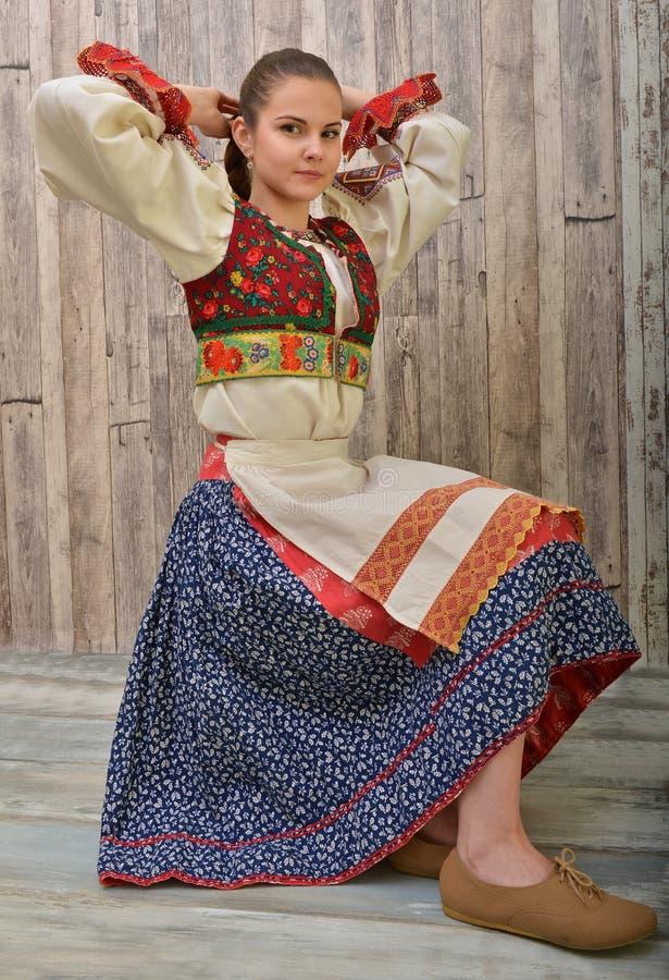 El folclore eslovaco viste tradicional imágenes de archivo libres de regalías