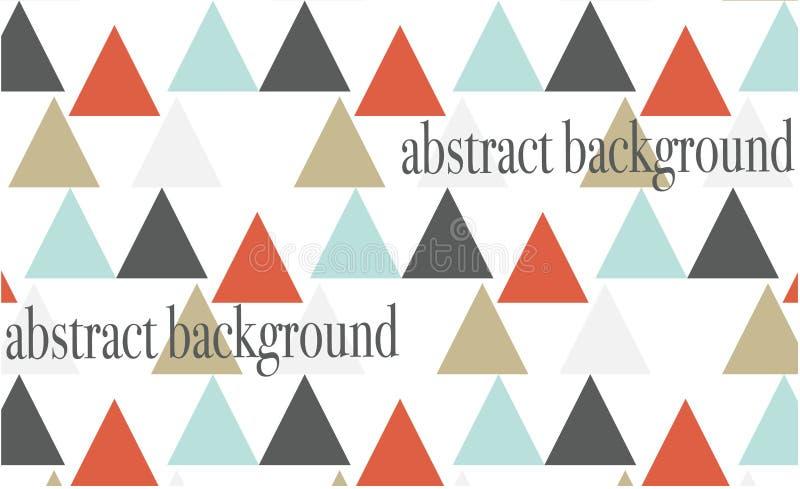 El fondo abstracto coloreó triángulos en el fondo blanco libre illustration
