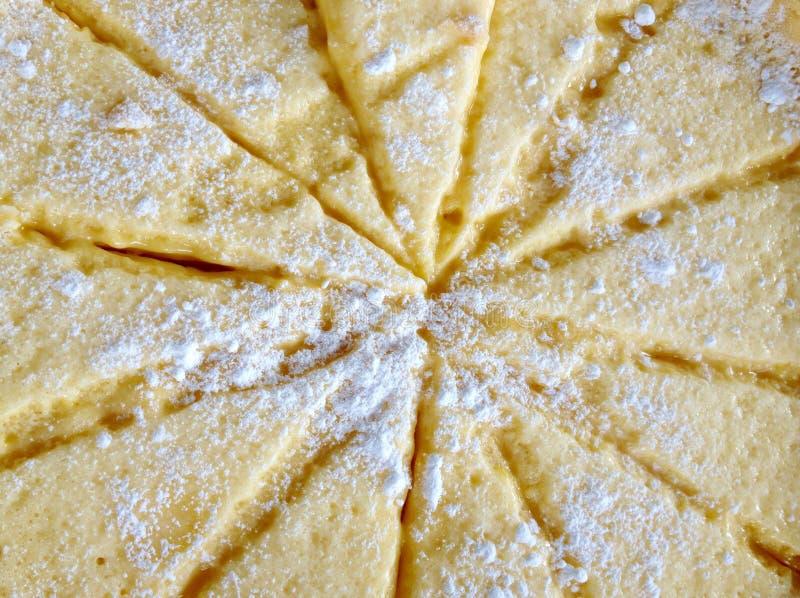 El fondo abstracto colorea la empanada del limón del primer agria foto de archivo