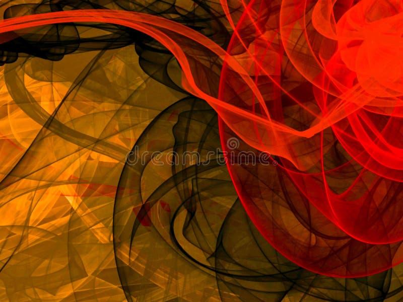 El fondo abstracto con energía teje, los colores digitales del ejemplo, de 3d, del amarillo, marrones y rojos, ejemplo libre illustration