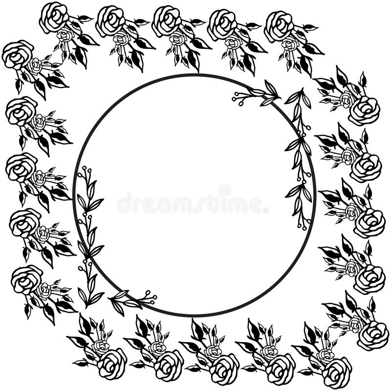 El fondo abstracto con el gráfico del arte subió floral Vector ilustración del vector