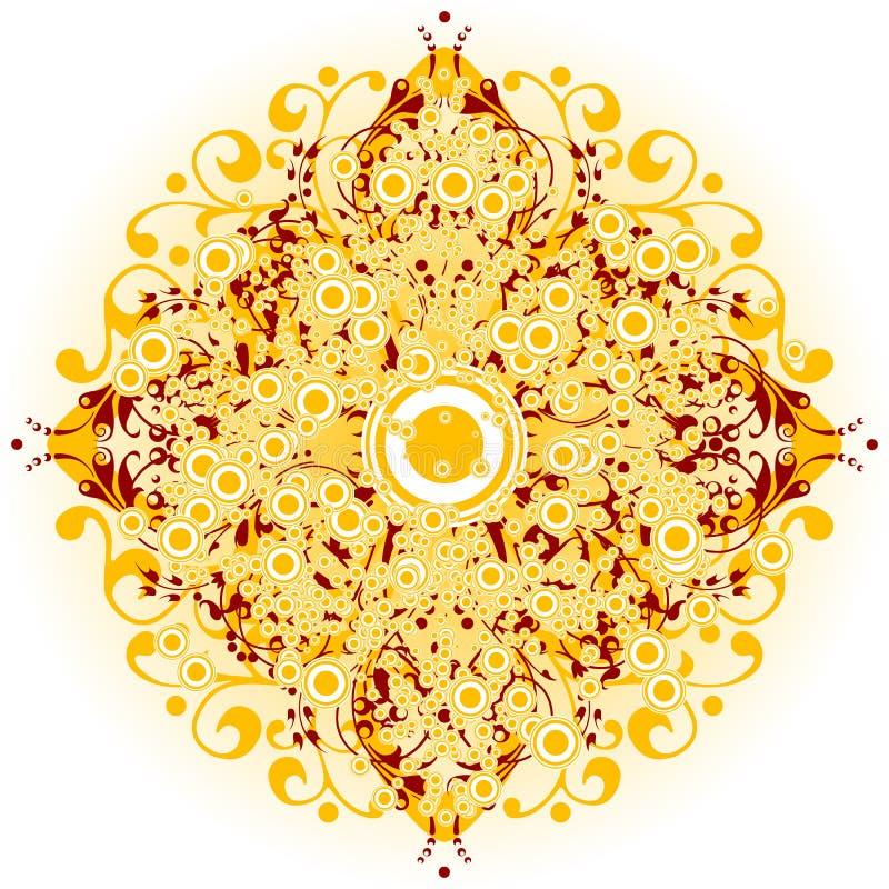 El fondo abstracto con los elementos y los círculos florales, vector enfermedad libre illustration