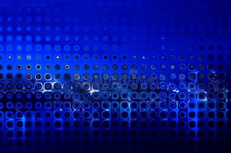 El fondo abstracto curva las figuras azules stock de ilustración