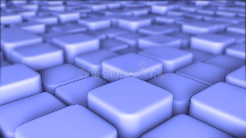 El fondo abstracto 3d de los bloques, cubos, caja, 3d rinde ilustración del vector