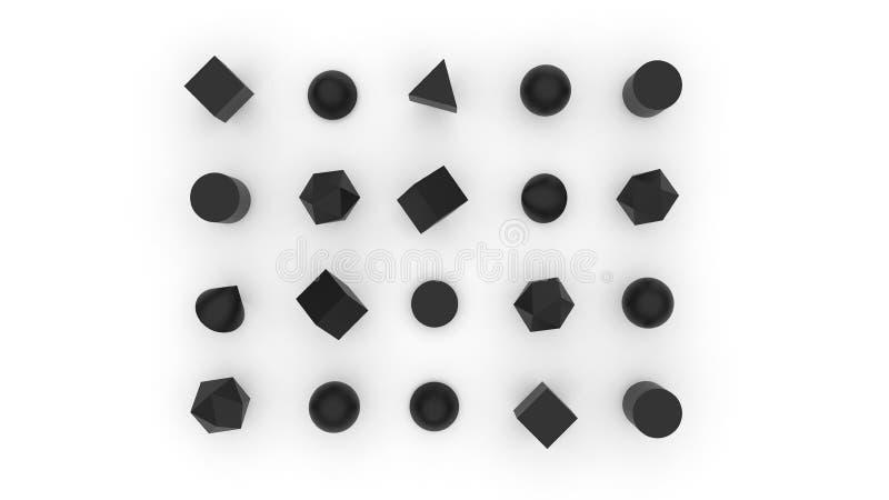 El fondo abstracto 3d del sistema de herramienta de la geometría rinde libre illustration
