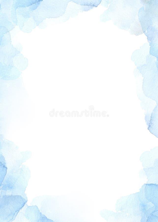 El fondo abstracto de la acuarela con el azul salpica Humor del invierno ilustración del vector