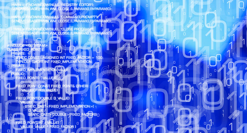 El fondo abstracto de la seguridad informática, virus ataca la red cibernética de la seguridad stock de ilustración