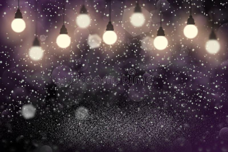 El fondo abstracto del brillo del rosa de las luces del bokeh defocused brillante agradable de las bombillas con las chispas vuel fotos de archivo libres de regalías