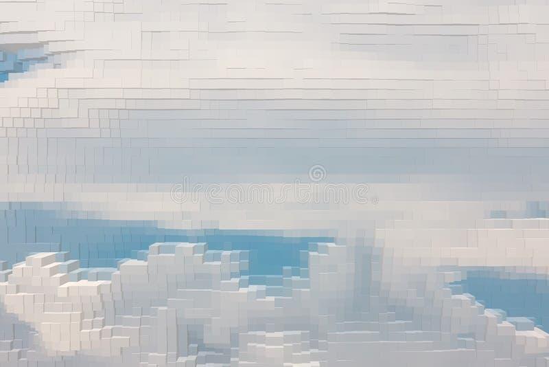 El fondo abstracto del cielo saca cubo, sacado libre illustration