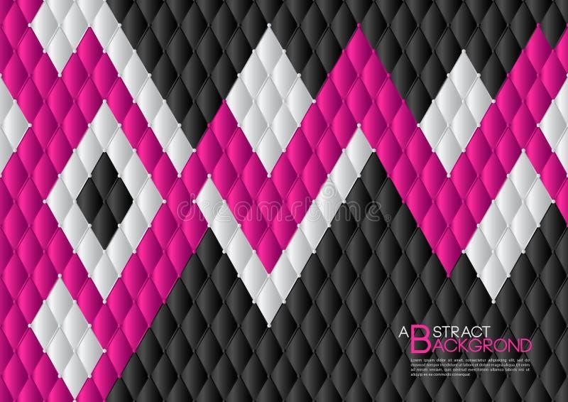 El fondo abstracto del negro y del rosa vector el ejemplo, disposición de la plantilla de la cubierta, aviador del negocio, lujo  libre illustration