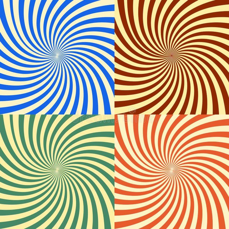 El fondo abstracto del vector de la estrella estalló EPS 10 stock de ilustración
