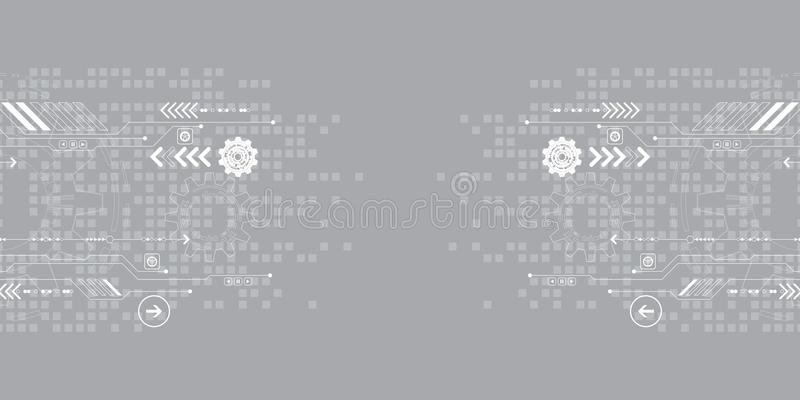 El fondo abstracto del vector muestra la innovación de la tecnología y de los conceptos de la tecnología ilustración del vector