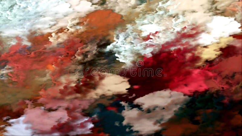 El fondo abstracto empañó textura ahumada nublada psicodélica coloreada libre illustration