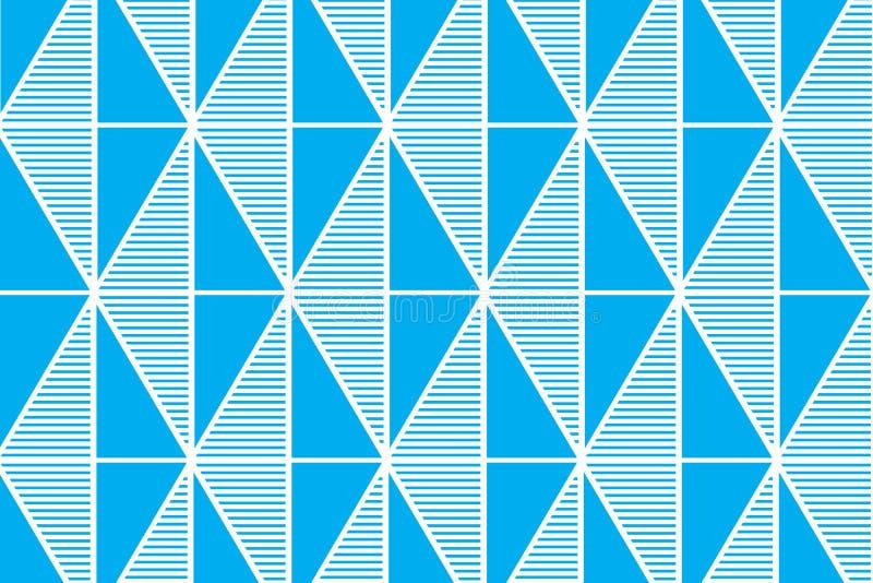 El fondo abstracto geométrico azul del vector del modelo de las formas de la línea y del triángulo diseña libre illustration