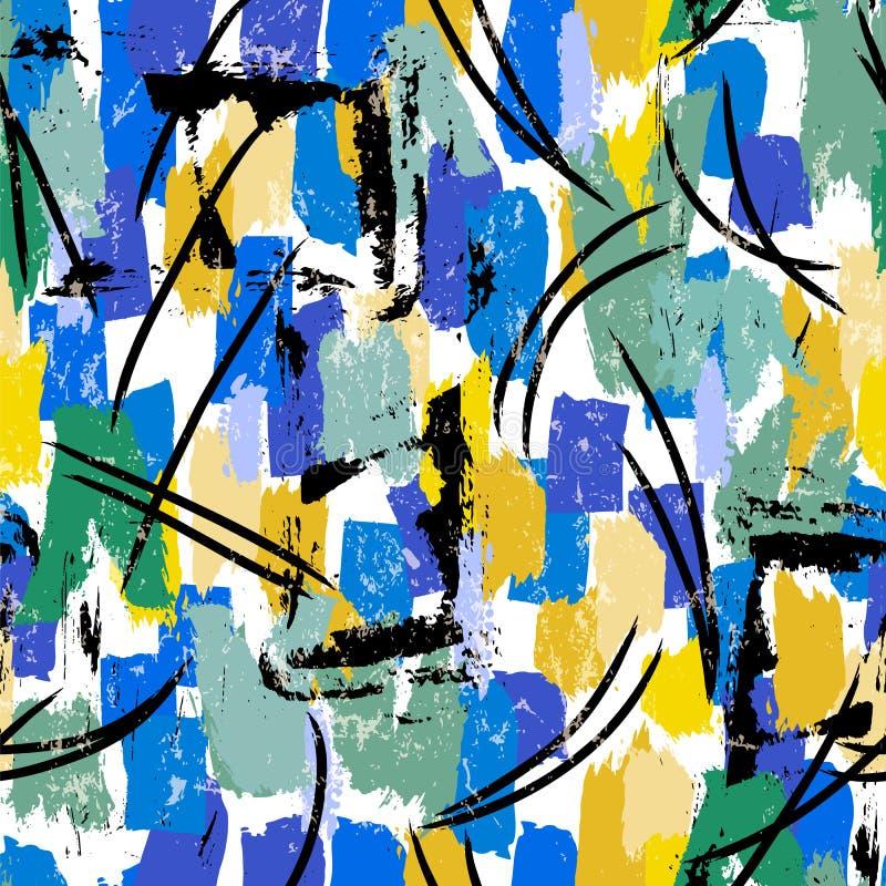 El fondo abstracto inconsútil del modelo, pintura frota ligeramente y salpica imágenes de archivo libres de regalías