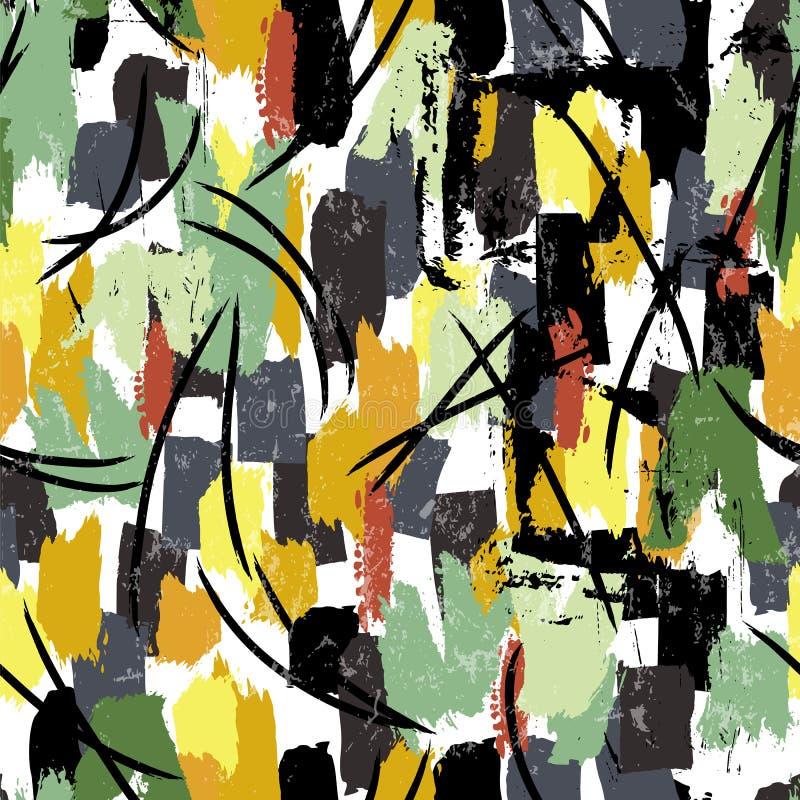 El fondo abstracto inconsútil del modelo, pintura frota ligeramente y salpica foto de archivo libre de regalías