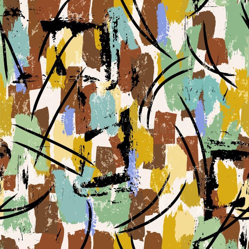 El fondo abstracto inconsútil del modelo, pintura frota ligeramente y salpica fotografía de archivo