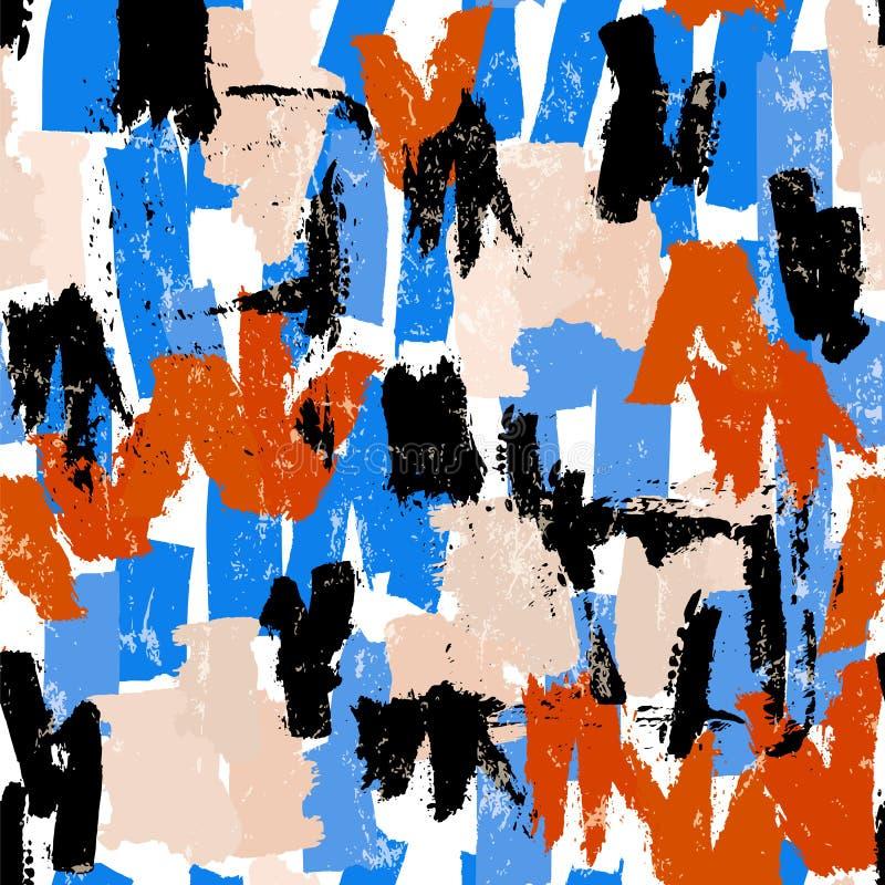 El fondo abstracto inconsútil del modelo, pintura frota ligeramente y salpica foto de archivo