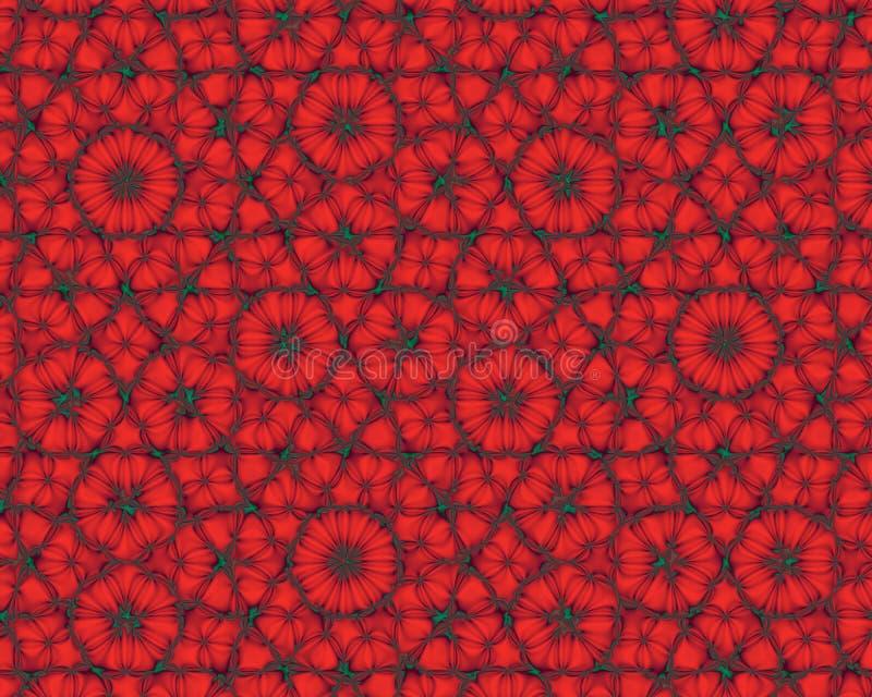 El fondo abstracto le gustan las flores rojas del fractal stock de ilustración