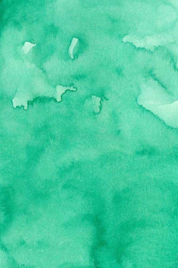 El fondo abstracto verde de la acuarela para los fondos de las texturas y las banderas de la web diseñan ilustración del vector