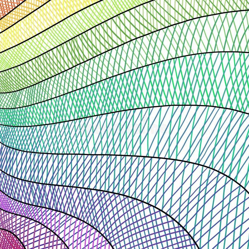 El fondo artsy del arte moderno con la mano dibujada alinea en modelo y rayas del hatchwork libre illustration