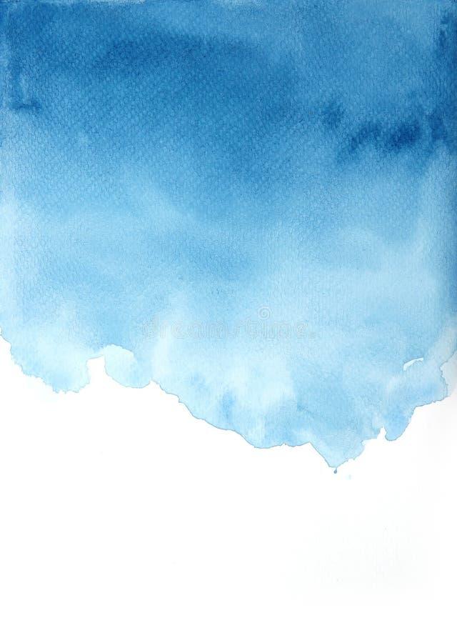 El fondo azul abstracto de la acuarela, texturiza los fondos, estilo del grunge Para diseñar y fondos de la decoración stock de ilustración