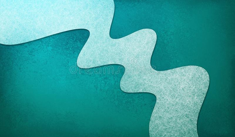 El fondo azul del trullo abstracto con la raya material ondulada blanca del diseño, elemento del diseño tiene textura ilustración del vector