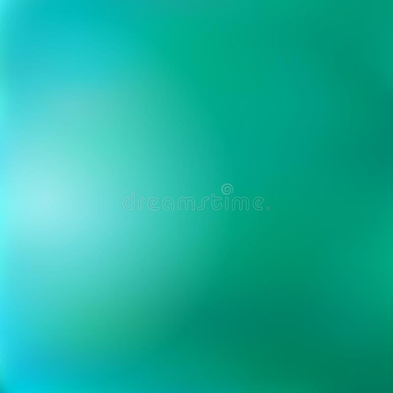 El fondo borroso de la esmeralda-turquesa de la pendiente, imita la superficie del agua del lago libre illustration