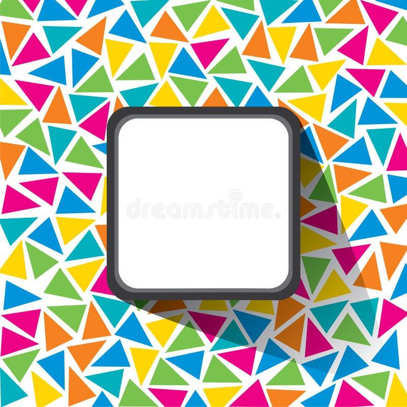 el fondo colorido creativo del modelo del triángulo con la etiqueta en blanco para escribe su concepto del texto libre illustration