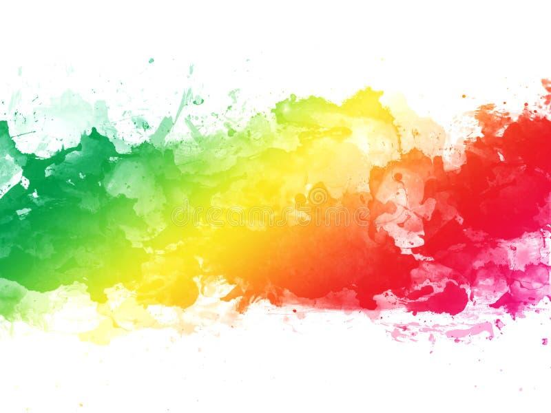 El fondo colorido de la textura del chapoteo de la acuarela aisl? Gota a mano, punto Efectos de la acuarela abstraiga el fondo fotografía de archivo