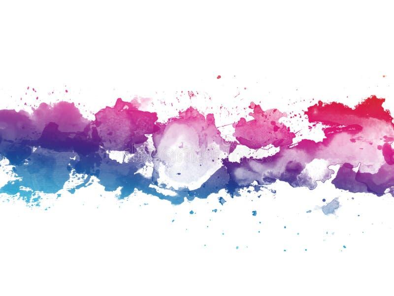 El fondo colorido de la textura del chapoteo de la acuarela aisl? Gota a mano, punto Efectos de la acuarela abstraiga el fondo ilustración del vector