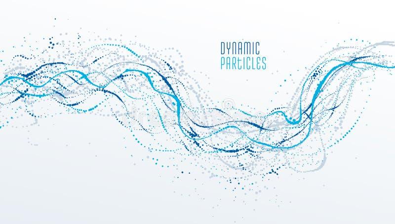 El fondo colorido del extracto del vector del arsenal del flujo de la partícula, vida forma diseño microscópico del bio tema libre illustration