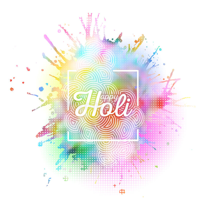 El fondo colorido para la celebración de Holi con colores salpica, vector el ejemplo libre illustration
