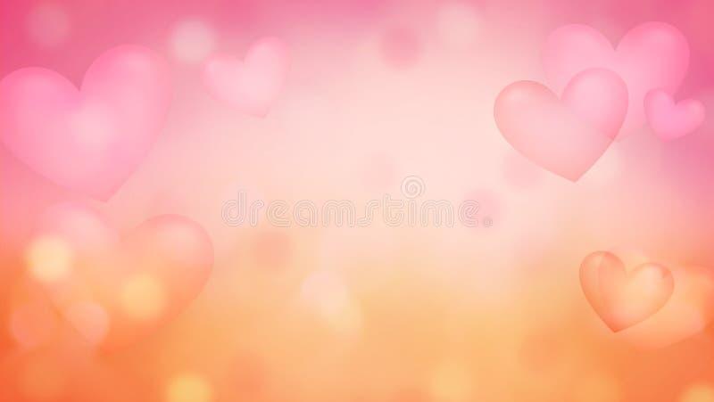 El fondo con los corazones de la opacidad resume illus crative del fondo libre illustration