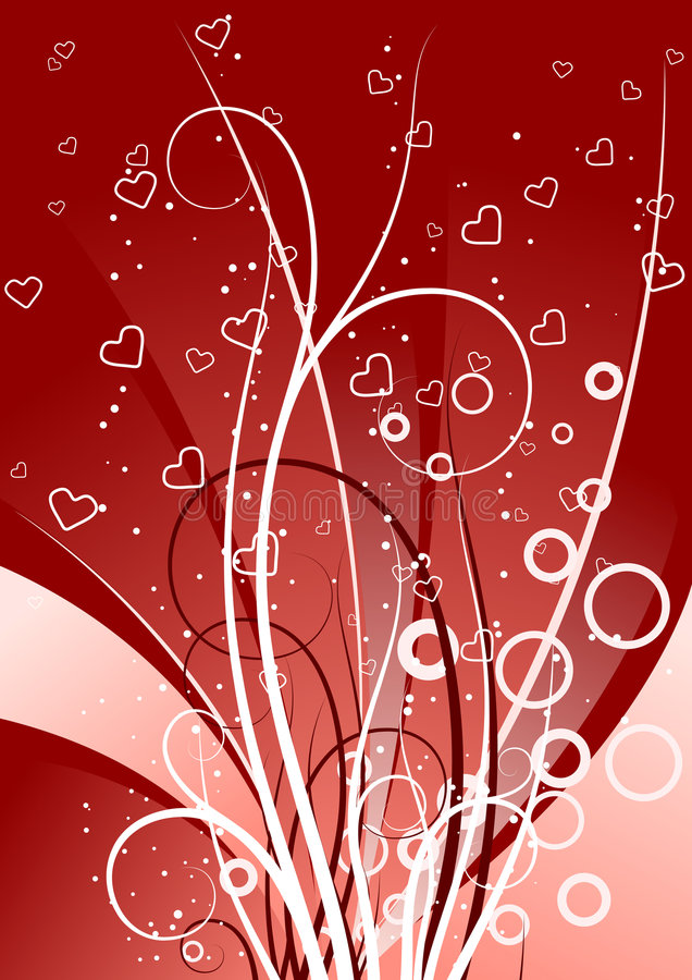 El fondo creativo con los desfiles, los círculos y el corazón forma, vect libre illustration