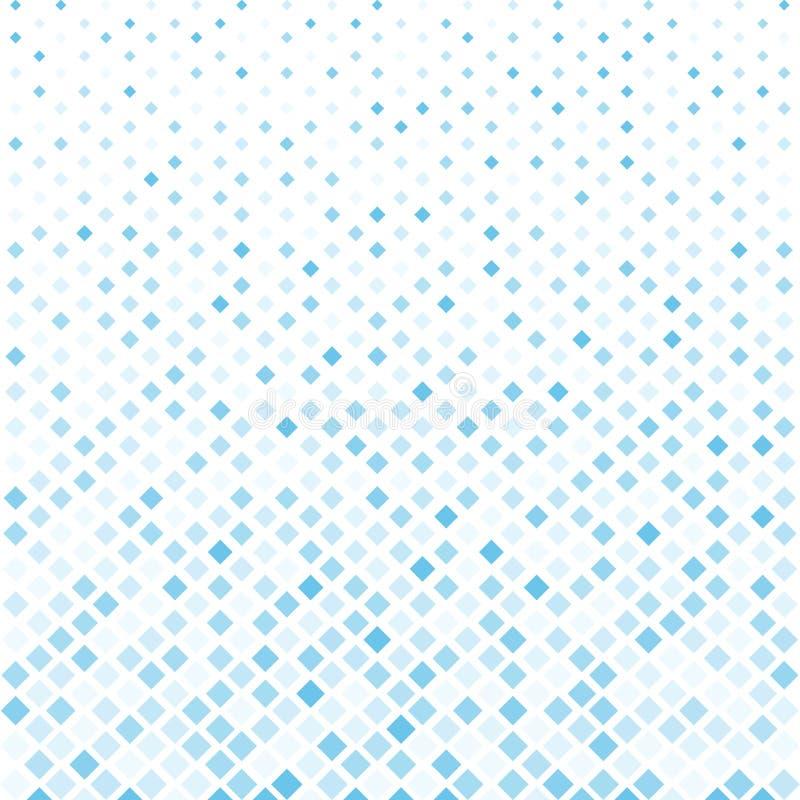 El fondo cuadrado azul de semitono abstracto del modelo, Vector moderno stock de ilustración