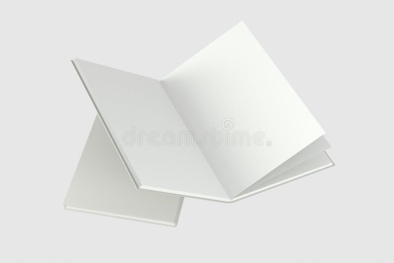 El fondo de apertura en blanco del cuaderno, representación 3d libre illustration