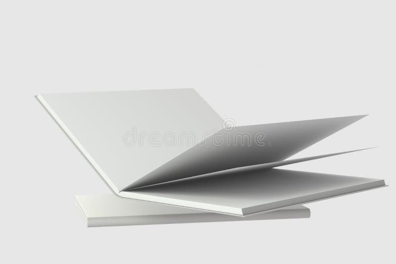 El fondo de apertura en blanco del cuaderno, representación 3d ilustración del vector