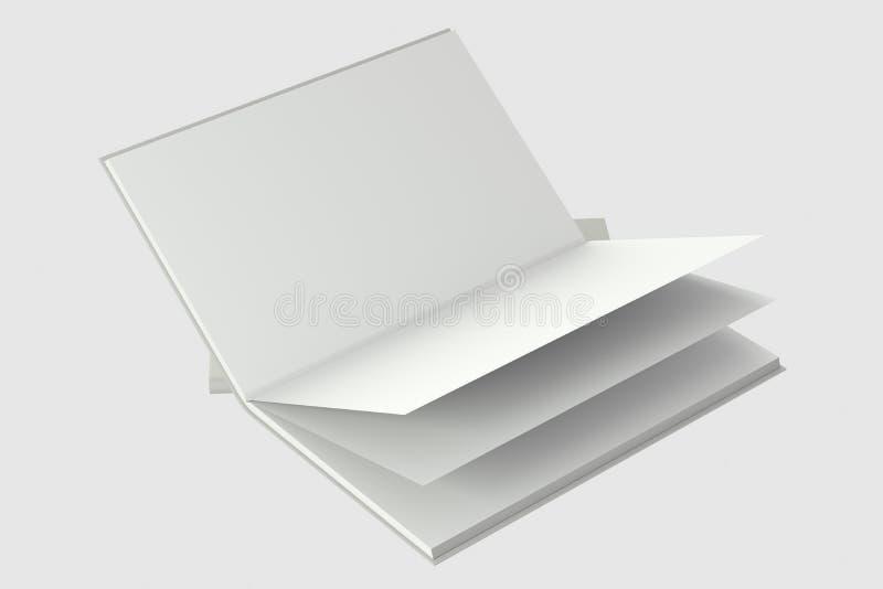 El fondo de apertura en blanco del cuaderno, representación 3d stock de ilustración