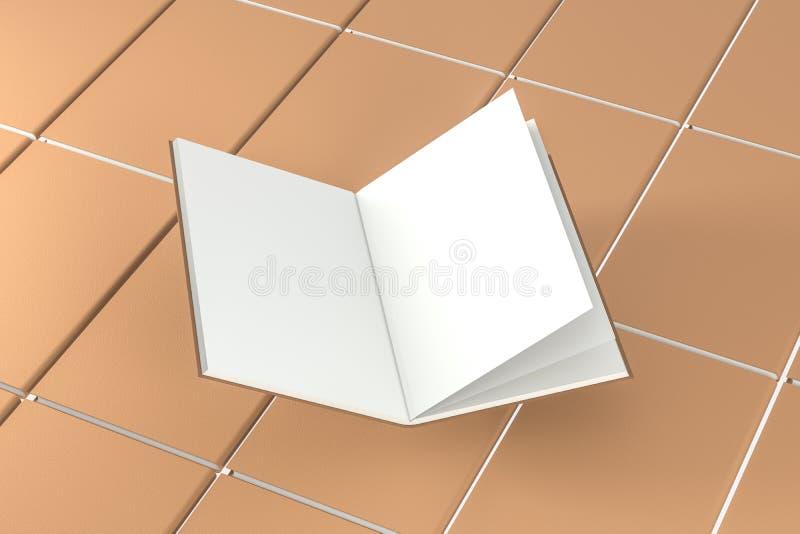 El fondo de apertura en blanco marrón del cuaderno, representación 3d stock de ilustración