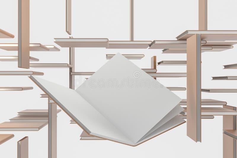 El fondo de apertura en blanco marrón del cuaderno, representación 3d libre illustration